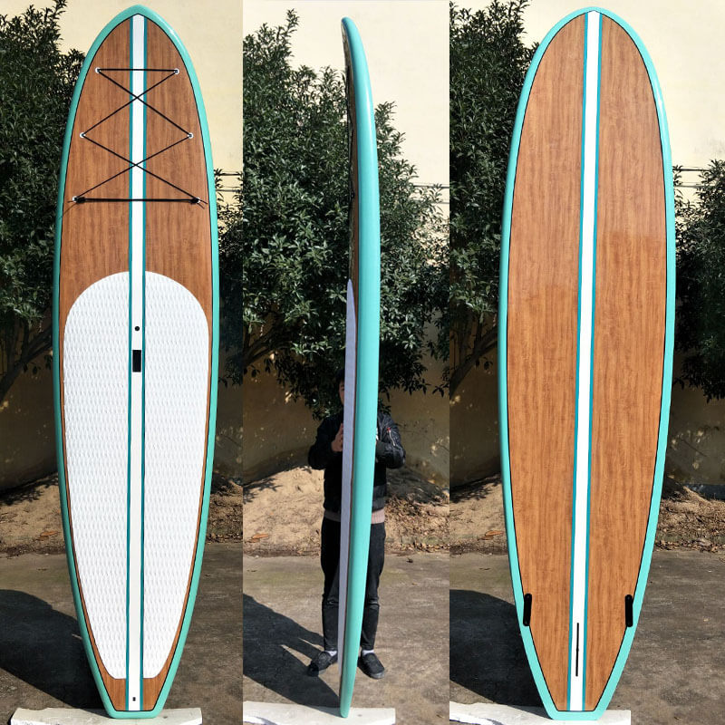 wooden paper stand up paddle boards